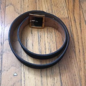 jcrew 32 black suede belt
